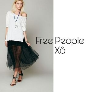 Free People Raw Tulle skirt xs black